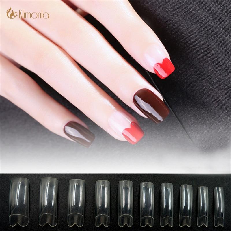 500Pcs/Lot False Nails M Shape Nail Tips Professional Fake Nail Tips ...