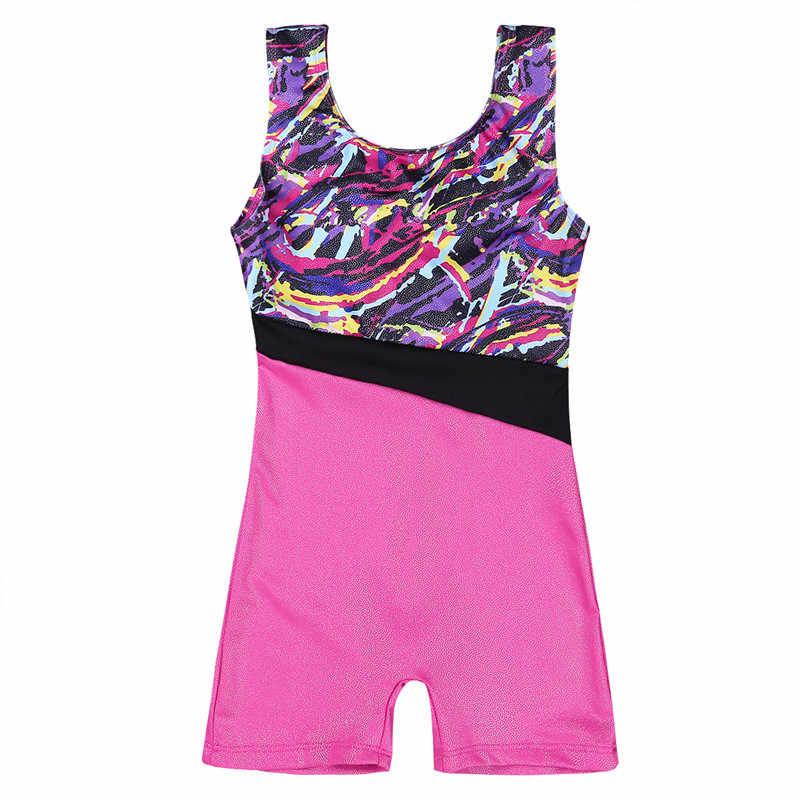 TiaoBug/Детский комбинезон без рукавов с блестками для балета, трико балерины, спортивный комбинезон для гимнастики, трико для девочек