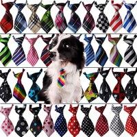 50 stück Neue Bunte Handgemachte Einstellbare Haustier Hund Krawatten Pet Bogen krawatten Schöne Gedruckt Katze krawatten Hundepflege Lieferungen 32 farbe