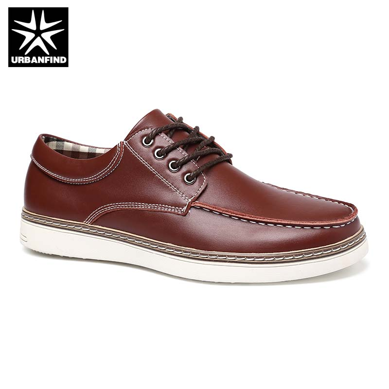 Big Size 38-47 Brand Men Leather Sneakers Casual Shoes Spring Summer Footwear Male Lace-up Flats Black Blue Brown