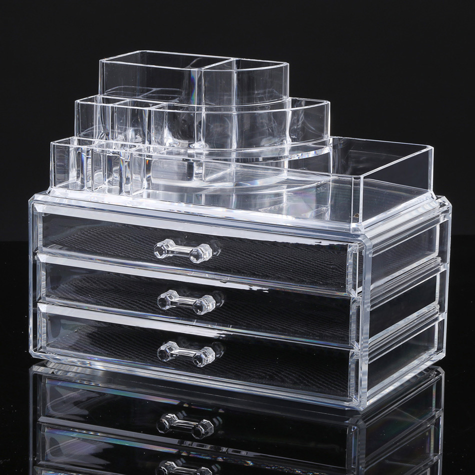 Acevivi Makeup Holder Display Stand Clear Acrylic Cosmetic Organizer 3