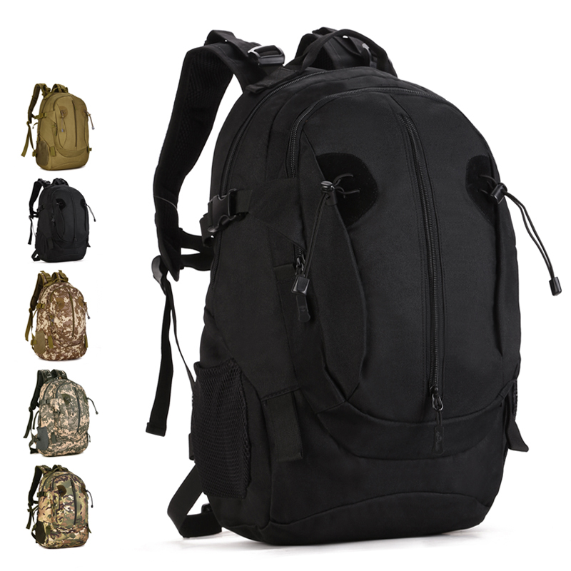 Men 40L Large Assault Backpack Outdoor 14 Inch Laptop Tactical Bag Extended Molle System Army Military
