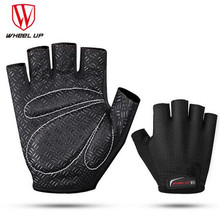 WHEEL UP Cycling Gloves Half Finger Bike Gloves Shockproof Breathable Men Sports Cycling Clothings Mountain Bicycle Gloves rockbros cycling bike half finger gloves shockproof breathable mtb mountain bicycle gloves men women sports cycling clothings