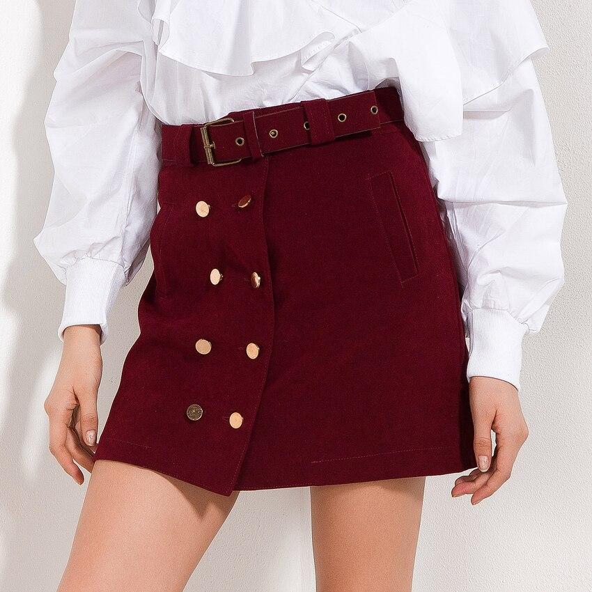 Fashion Streetwear Women Skirt With Belt