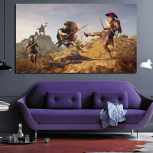 Assassins Creed Odyssey Release Canvas Painting Poster Prints Marble Wall Art Painting Decorative Picture Modern Home Decoration assassins creed leap of faith canvas painting posters prints marble wall art painting decorative picture modern home decoration