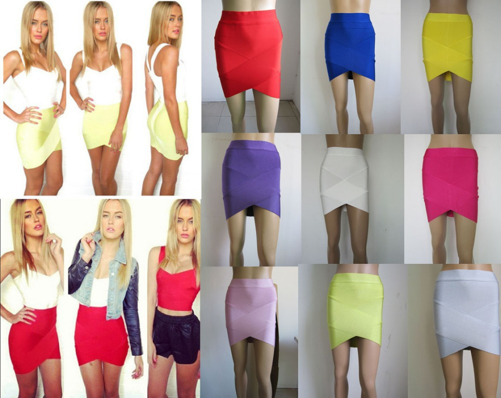 Free Delivery European and American fashion star Various colors cross bandage skirts