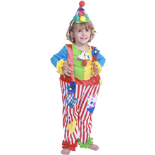 Funny Kids Clown Costume Cosplay Circus Clown Suit Halloween Costume For Kids Carnival Party Clothing For Children цена
