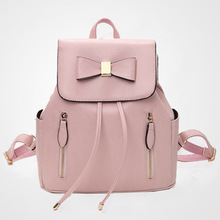 Women Backpacks Preppy Style Sweet Pink College Students Bags Fresh String Cell Phone Pocket Elegant Ladies Party Backpacks