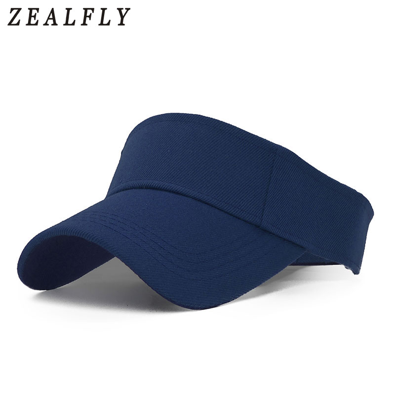 f09cd03928e35 Verano colorido sólido pesca visera gorras caza sombrero adulto hombre  mujer deportes al aire libre ajustable