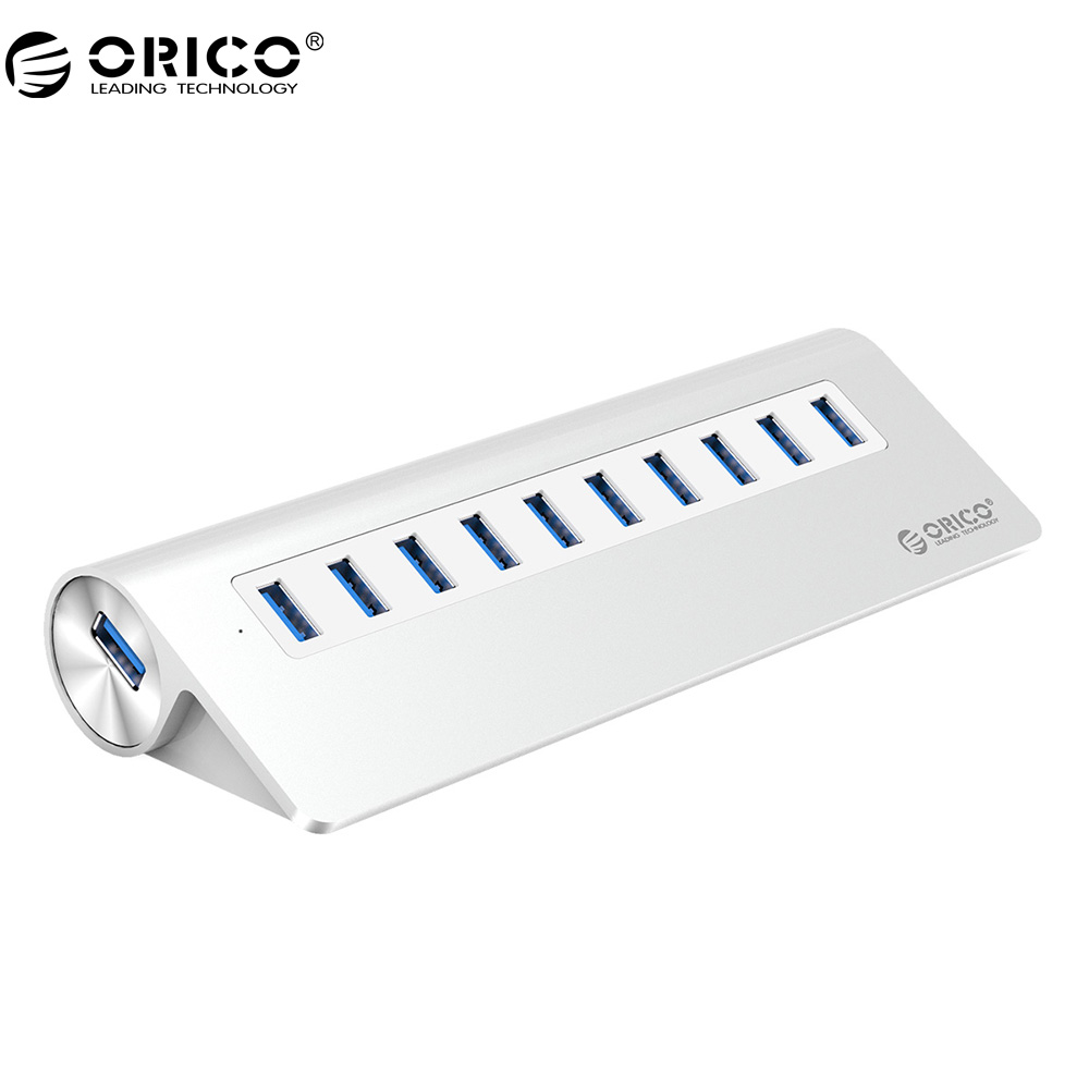 ORICO Aluminum 10 Port USB3.0 Hub for Smartphones, Tablets, Laptops, Desktops, and Other Apple Devices expanding stand and grip for smartphones and tablets chakra