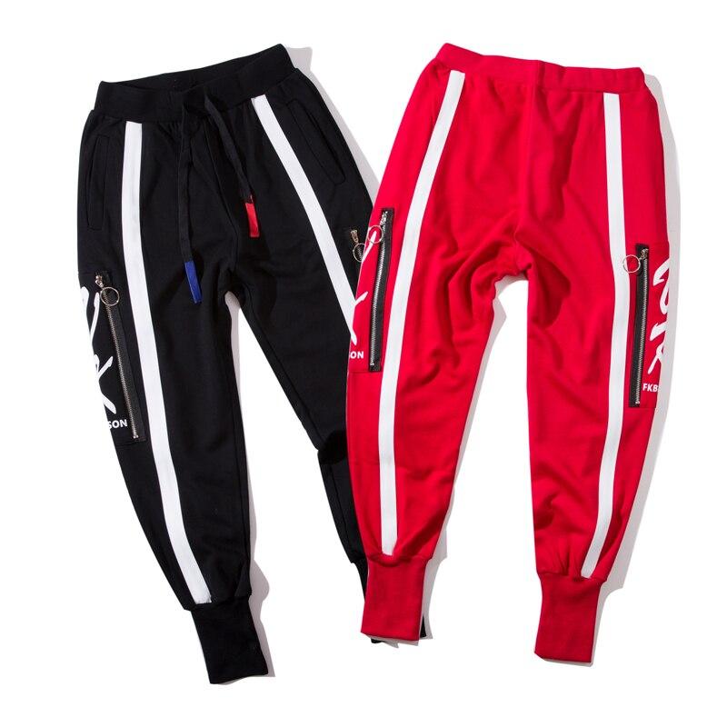 Donna Primavera Inverno del Cotone Della Rappezzatura Matita Pantaloni Zipper Stile Europeo Cuciture Pantalone Nero Rosso Plus Size S XXXL - 6