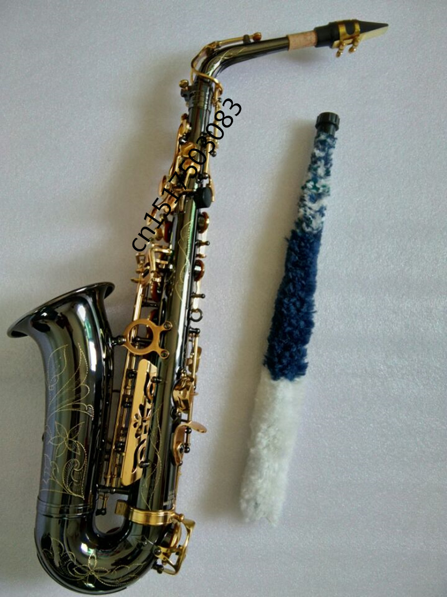 Alto font b Saxophone b font black nickel gold drop E Alto font b saxophone b