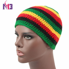 Unisex Casual Women Men Knitted Rasta Hat Winter Warm Handmade Crochet Hats Jamaica Beanie Caps Bob Marley Rasta Reggae Hat цена в Москве и Питере