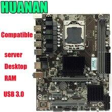 HUANAN X58 LGA 1366 DDR3 настольных ПК Материнские платы компьютер Материнские платы подходит для сервера ECC REG Оперативная память