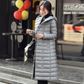 2015 New Black Amy Green Sliver Winter Jacket Fashion Women Long Down Coat Big Size Parka Mujer Ladies Hooded Warm Outerwear