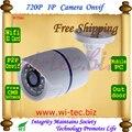 Tarjeta SD Construido en WIFI 720 P IR Bullet Seguridad ONVIF Impermeable Cámara IP IR Cut Visión nocturna P2P 1.0MP cámara De Red Megapixel