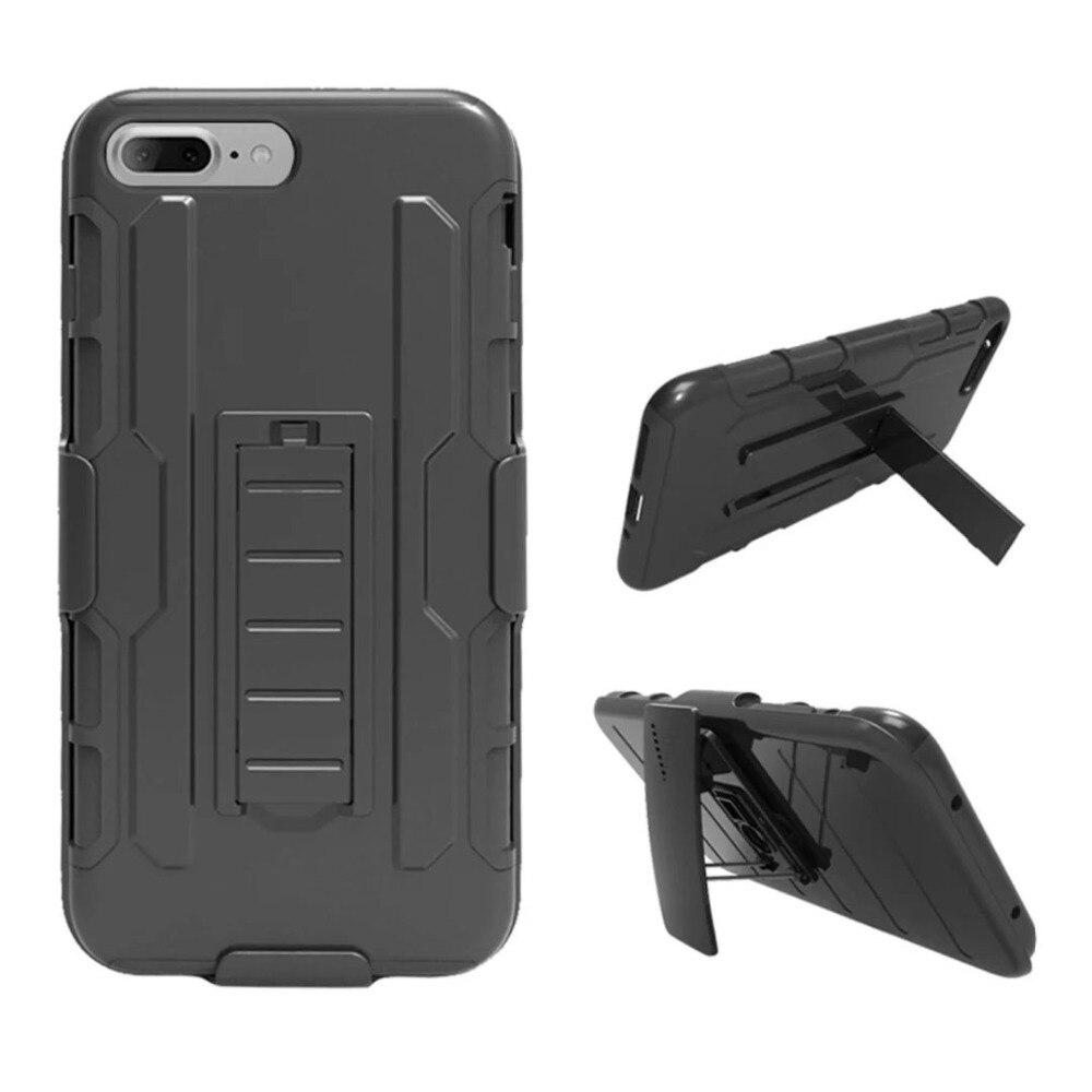 Caso Para Apple iPhone 7 8 6 s 6 Plus PC + Silicone Militar Anti Choque  impacto Clipe para Cinto Caso Strap Para iPhone X 4 4S 5 5S SE Tampa 973d22dde3
