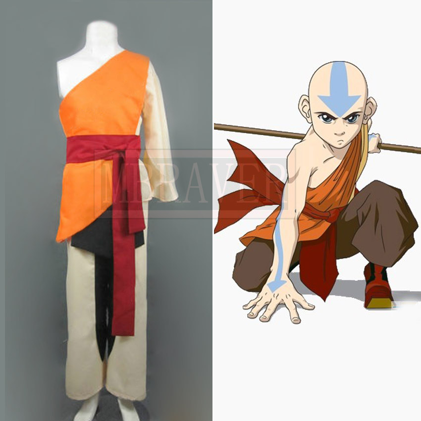 <font><b>Avatar</b></font>: The Last Airbender <font><b>Avatar</b></font> <font><b>Aang</b></font> Cosplay Costume Halloween Costumes image