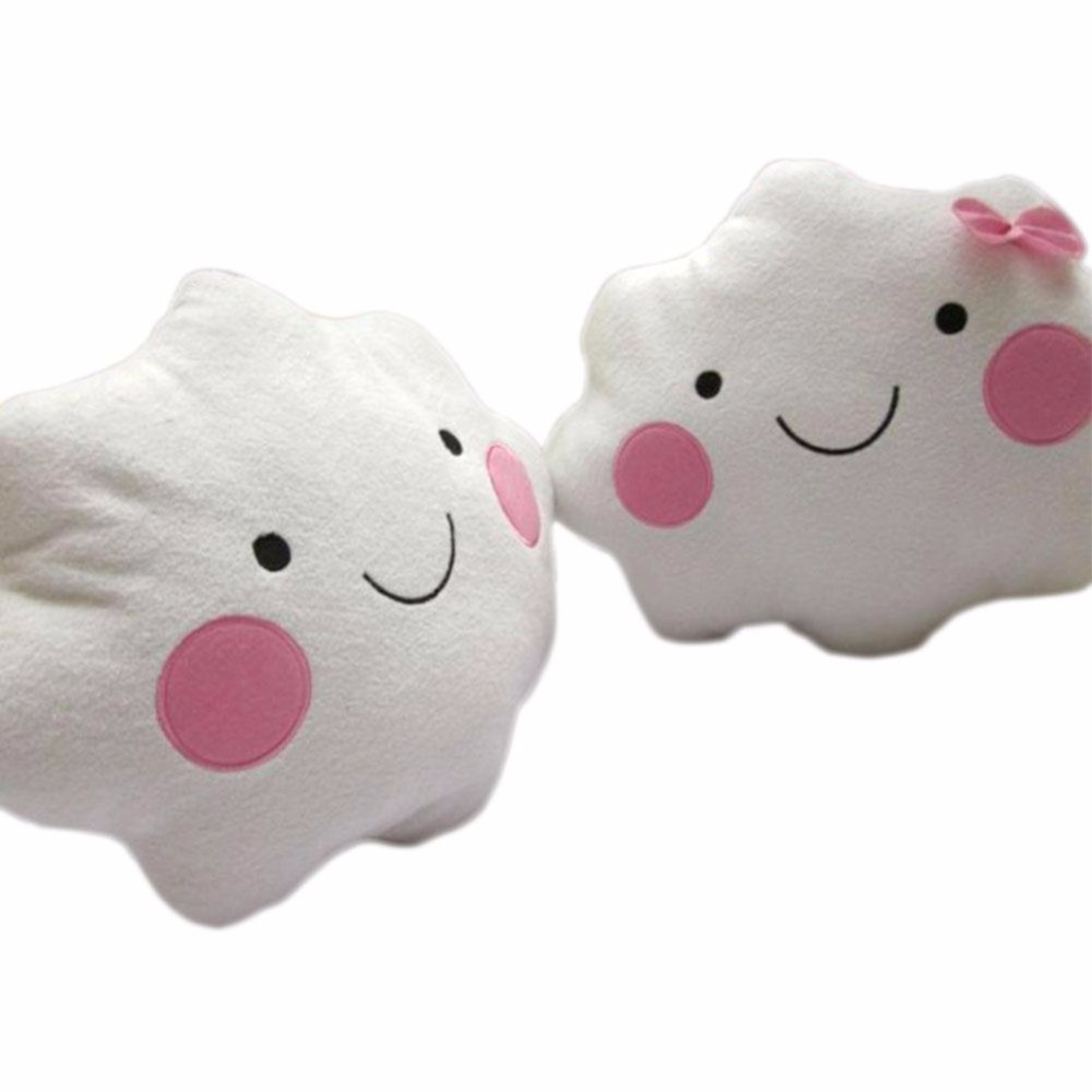 Bed chair pillow - Plush Pillow Smiley Cloud Neck Travel Pillows Chair Seat Cushion Stuffed Pillow Kids Toy Gift Bed