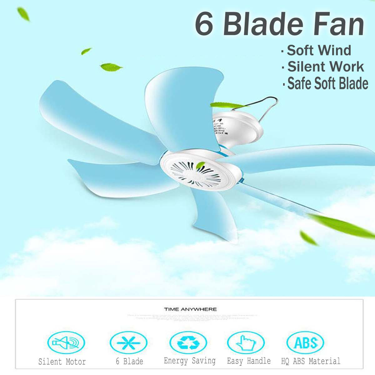 220V 8W Mini Energy saving Electric Anti mosquito Ceiling Fan Mini Fans Air Conditioner Cooler for Dormitory Summer 6 Blades|Fans| |  - title=
