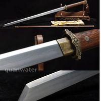 39' FOLDED STEEL HANDMADE ROSEWOOD SAYA HANDMADE FULL TANG SWORD