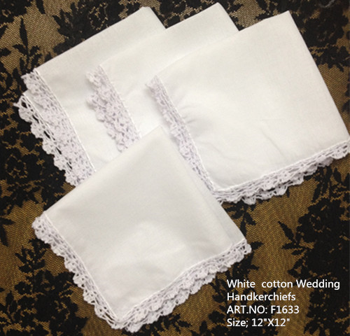 Image is loading 4-WHITE-EMBROIDERED-HANKIES-FOR-WOMEN-SOFT-COTTON-