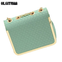 Hot Sale 2016 Candy Color Handbag Vintage Fashion One Shoulder Small Bag PU Leather Bags Women