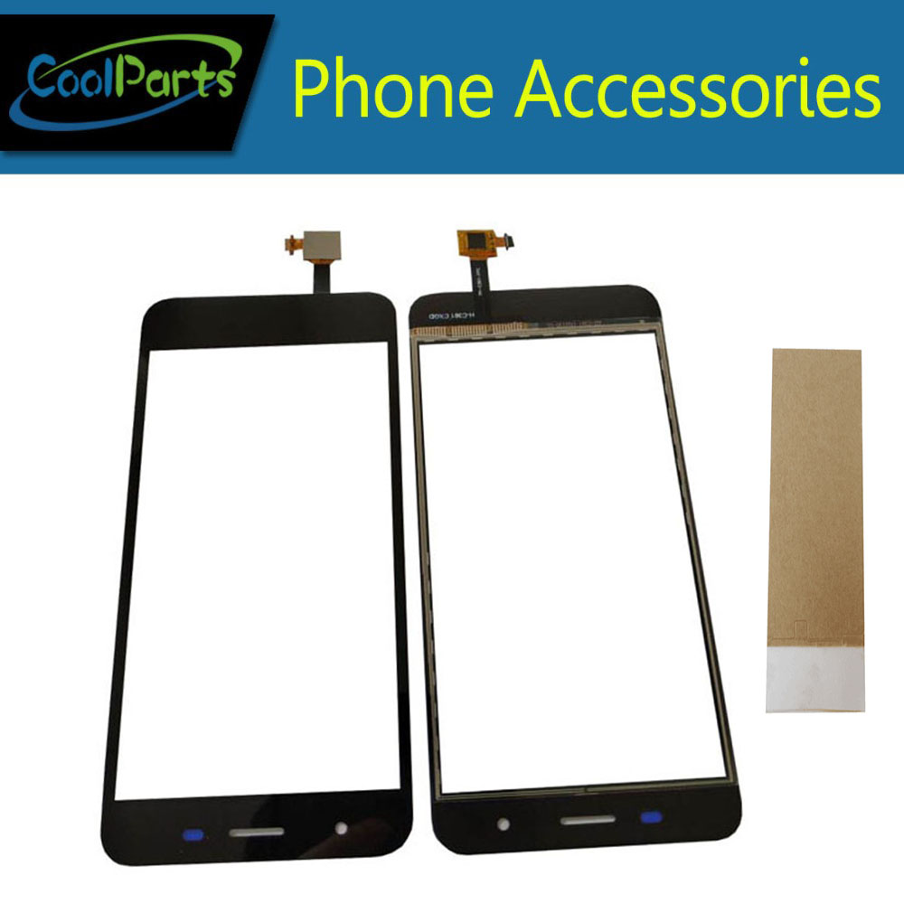 1PC/Lot High Quality For Micromax Q465 Canvas Juice 4 Touch Screen Digitizer Touch Panel Lens Glass With Tape Black Color
