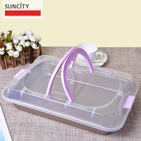 Portable Metal Non Stick Tortilla Baking Pan Pastry Bread Loaf Biscuit Dish Cookies Baking Tray Tin