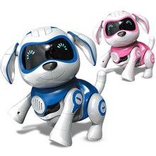 Fashion Robot hund leksak Intelligent mekanisk Mini hund Elektroniskt husdjur med musik sjunga dans gå Smart robot leksak hundar för present