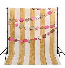 Coração Estrelas Listras Cor de Rosa de Ouro Branco Nad foto cenário Vinil pano Computer impresso Fundos do partido para a venda de Alta qualidade