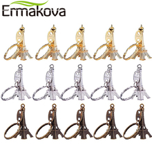 ERMAKOVA 15 Pcs/Set 3D Eiffel Tower Keychain French Souvenir Keyring Tower Figurine Key Chain Party Decor Key Ring Gift