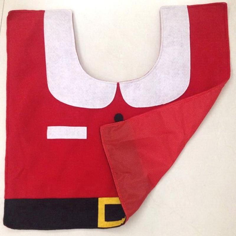 Details about 3pcs Santa Claus Christmas Bathroom Toilet Seat Cover Tissue Box Tank Cove & Mat