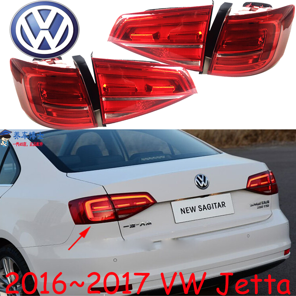 Jetta taillight,2016~2017,Free ship!LED,4pcs/set,Jetta rear light,sagitar,polo,passat,magotan,Jetta fog light tiguan taillight 2017 2018year led free ship ouareg sharan golf7 routan saveiro polo passat magotan jetta vento tiguan rear lamp