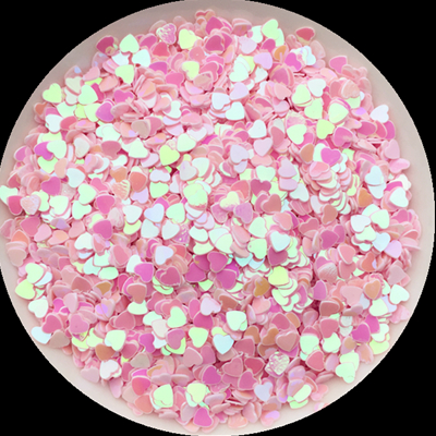 500g/pack 3mm Love Heart Shape Loose Sequins for Nails Arts Manicure/sewing Craft/wedding Decoration Confetti Nail Sequins