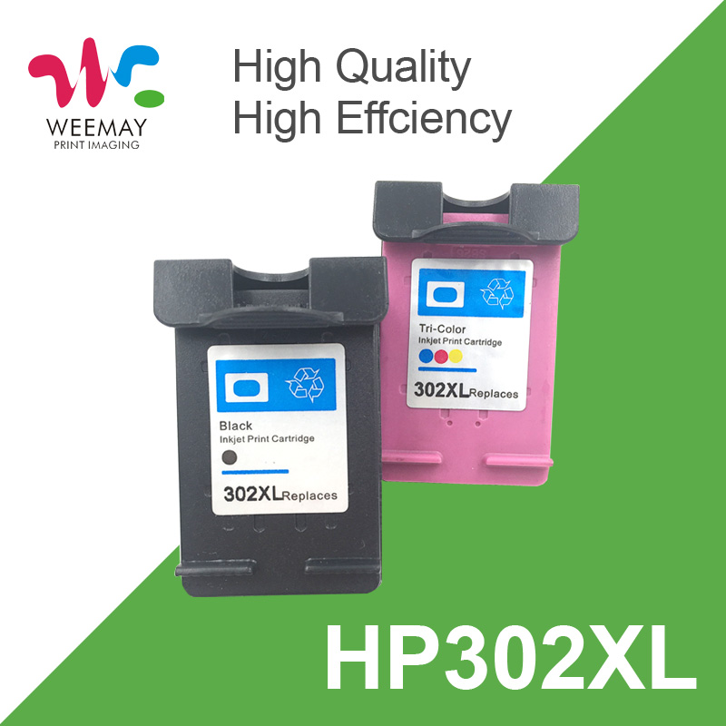 1set 302XL Ink Cartridge For HP 302  302 XL Replacement For HP Deskjet 2130 2135 1110 3630 3632 Officejet 3830 3834 4650 4655