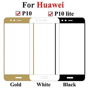 Image 2 - מזג זכוכית עבור Huawei P 10 לייט בתוספת מסך מגן סרט על Huaweel P10plus P10 אור מלא כיסוי בטיחות HD סרט על P10lite
