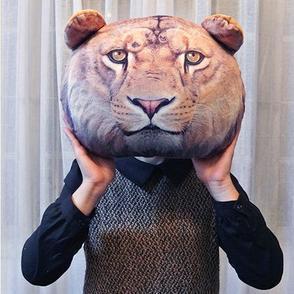 Wholesale ! X DOLL 2014 New Cute Animal Pattern Fashion Printing Tiger Lion Leopard Cushion Tiger Head Backpack Cushion