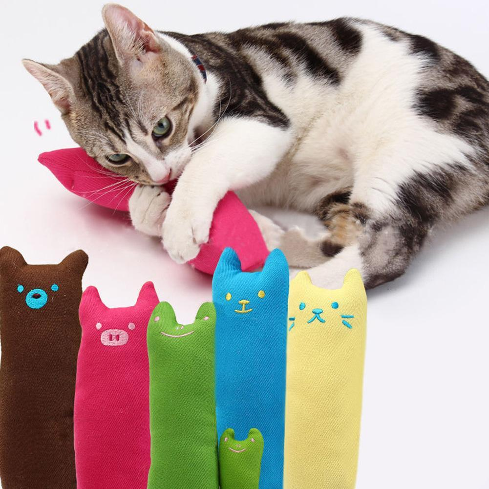 Catnip Teeth Pet Cat Toy Creative Pillow Scratch Crazy Kicker Kitty Grinding Pet Toys Cat Pillow Toy for cat Birthday Gift