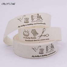 Cotton Webbing Ribbons Sewing-Tape Printed CMCYILING for DIY Gift Baby Handmade