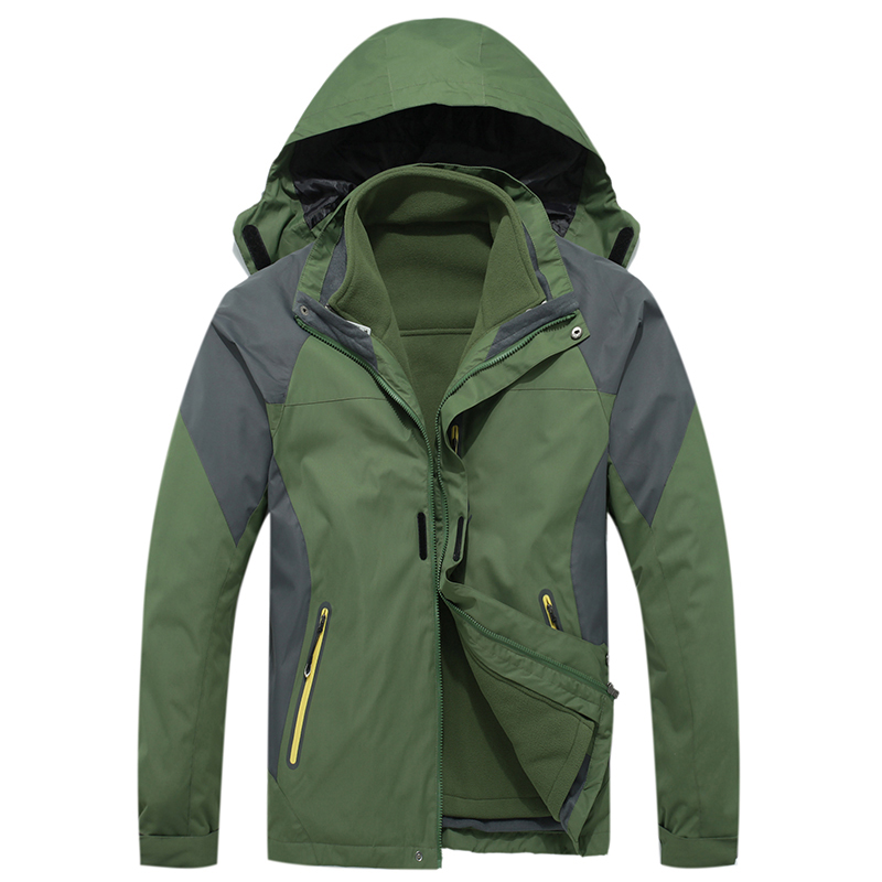 цена на MAZEROUT Camping Mountain hiking fishing skiing climbing cycling trekking Outdoor Men Jacket waterproof Winter 3in1 Windproof
