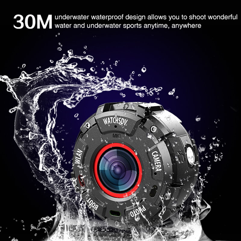 30M underwater waterproof drop-resistant smart camera on wrist wonderful video smart watch convenient photograph amazing camera get smart our amazing brain