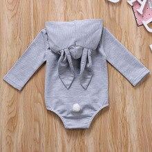 Baby 3D Bunny Ears Hoodie Bodysuit