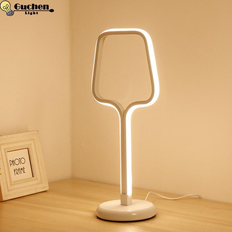 Modern LED Table Lamp Bedroom Reading Desk Light Nordic bedroom Bedside Lamp Study Eye Protect US