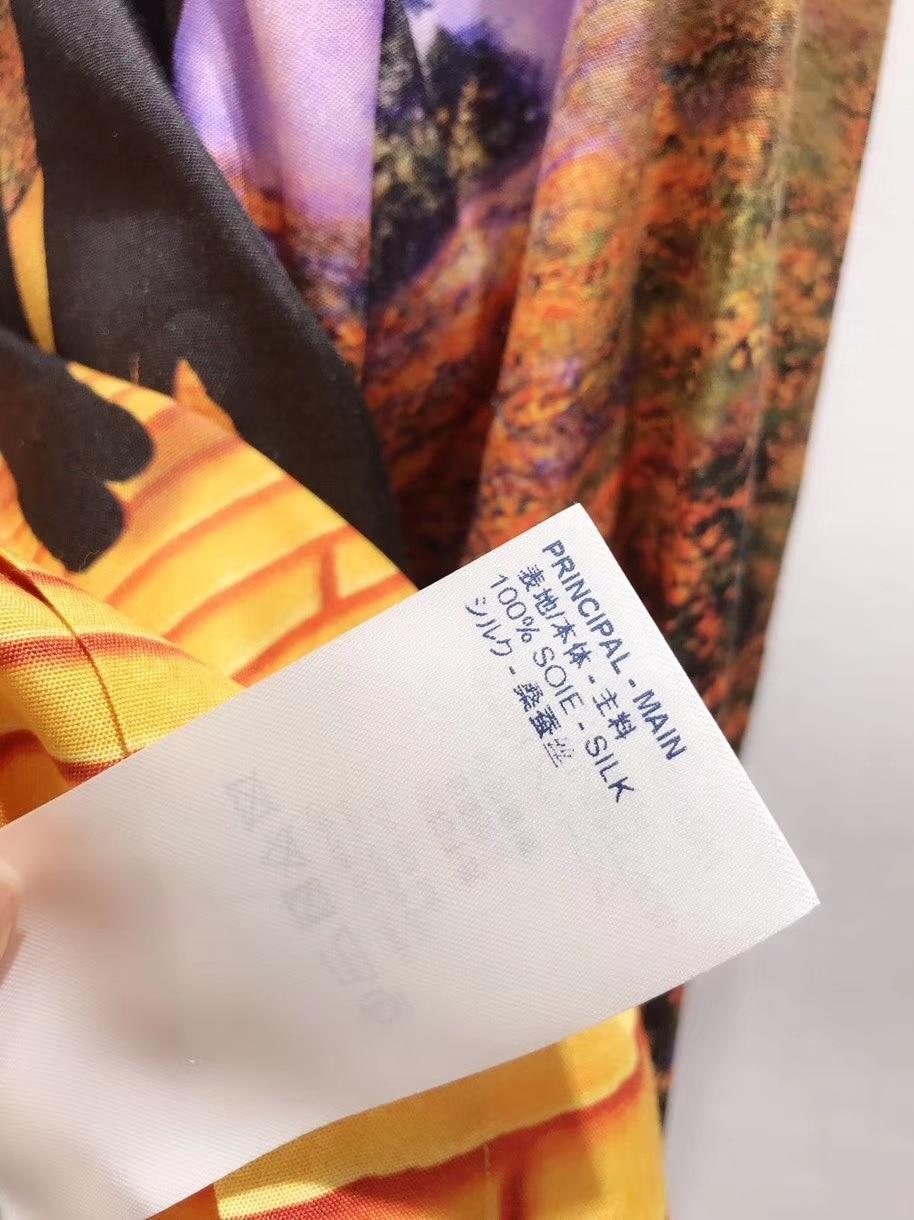 2019ss اليابان جديد الربيع عارضة قميص الإناث طويلة الأكمام أعلى بدوره إلى أسفل طوق طويل قميص المتضخم بلوزة-في بلوزات وقمصان من ملابس نسائية على  مجموعة 1
