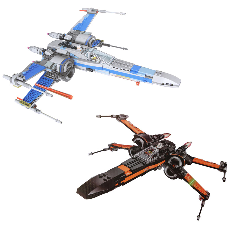 High Quality building bricks 05004 Star Plan Wars First Order Poe's X Fighter Wing Building Blocks Toys Compatible 75149 75102 hot sale building blocks assembled star first wars order poe s x toys wing fighter compatible lepins educational toys diy gift