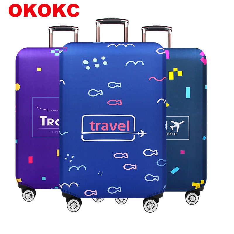 Elastic Thickest Luggage Cover Apply To 18''-32'' Suitcase,Suitcase Protective Cover For Trunk Case Travel Accessories