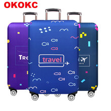 Elastic Thickest Luggage Cover Apply to 18''-32'' Suitcase,Suitcase Protective Cover for Trunk Case Travel Accessories стоимость