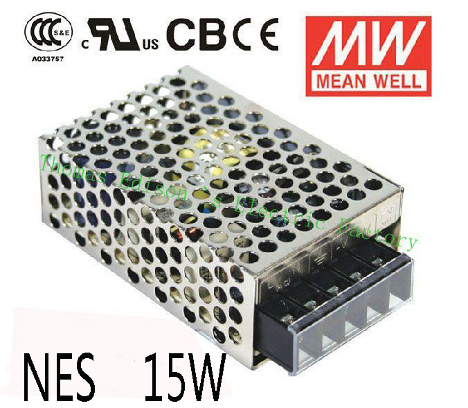 Original MEAN WELL power suply unit ac dc to dc power supply 15W 5V 3A 12V 1.3A 24V 0.7A MEANWELL meanwell 12v 350w ul certificated nes series switching power supply 85 264v ac to 12v dc