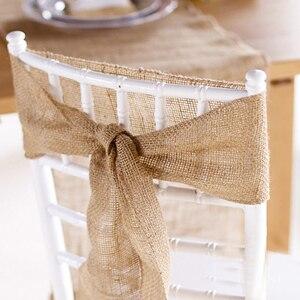 Image 4 - 30 cm X 10 m Tabelle Runner Natürliche Vintage Jute Hessischen Sackleinen Band Rustikalen Hochzeiten Gürtel Strap Floristik Hochzeit Party decor Craft